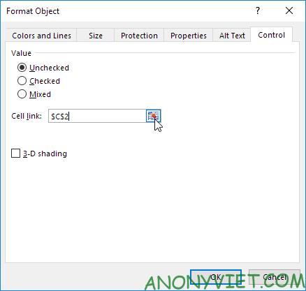 Bài 26: Cách sử dụng Checkbox trong Excel 87