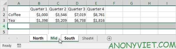 Bài 34: Cách nhóm trang tính - Gộp các Sheet thành Group trong Excel 26