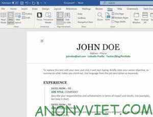 Cách tạo sơ yếu lý lịch chuyên nghiệp bằng Microsoft Word 27