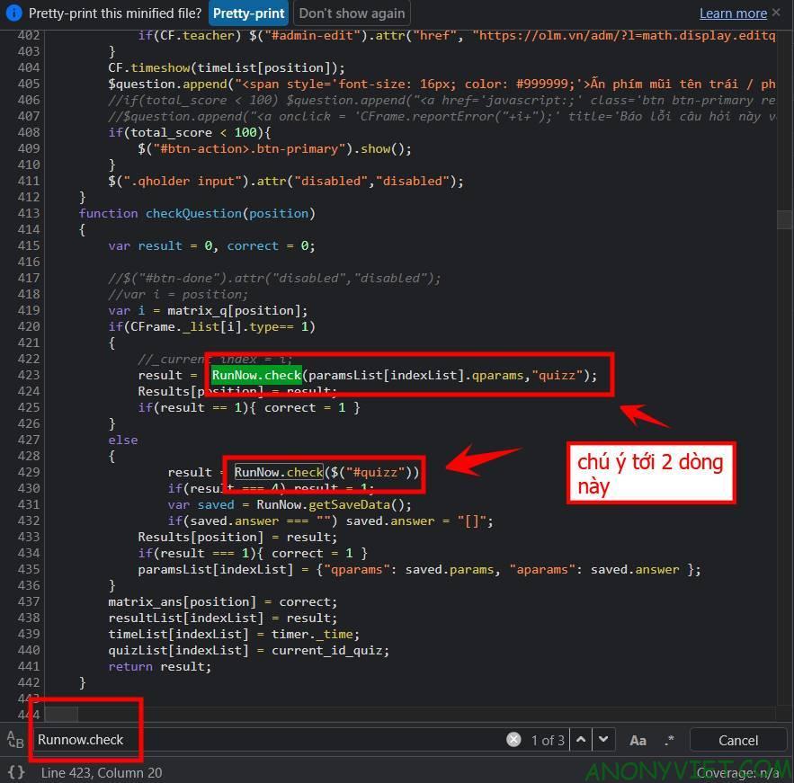 Cách Hack OLM Full điểm với 8 bước 10