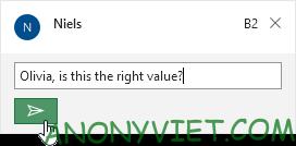 Đăng comment Excel