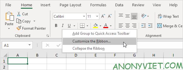 Bài 23: Cách sử dụng Customize the Ribbon trong Excel 28
