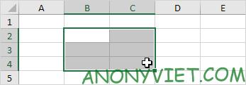 Khoảng B2:C4 trong Excel