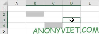 Chọn từng ô 1 trong Excel
