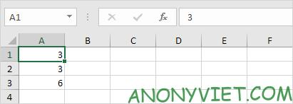 Giá trị tự động cập nhật Excel