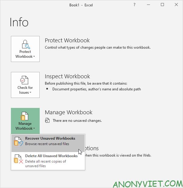 Bài 29: Cách sử dụng AutoRecover trong Excel 36