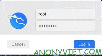 đổi user root kali linux