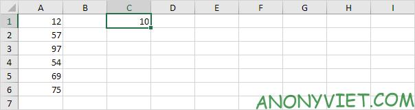Chọn ô có số nhân Excel