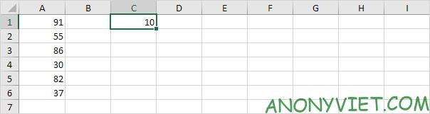 Chọn ô Excel