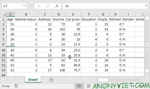 Bài 32: Cách sử dụng Split (tách) trang tính trong Excel 28