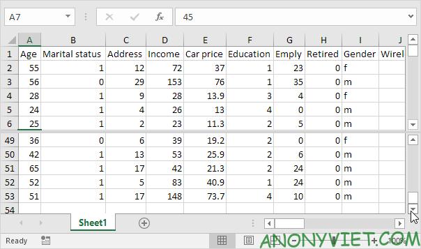 Bài 32: Cách sử dụng Split (tách) trang tính trong Excel 27