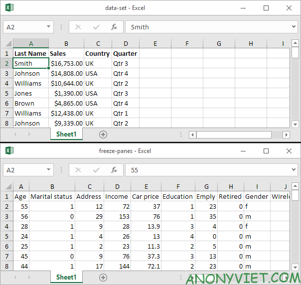 Bài 28: Cách xem 2 trang tính Excel cùng lúc với View 27