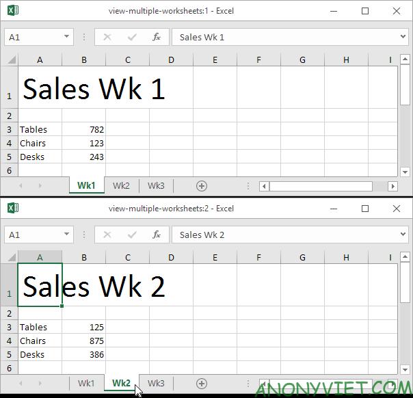 Bài 36: Cách xem nhiều trang tính cùng lúc trong Excel 31
