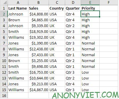 Bài 210: Tuỳ chọn sắp xếp thứ tự trong Excel 32