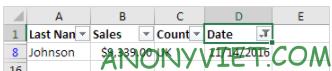 Bài 216: Lọc ngày tháng trong Excel 32