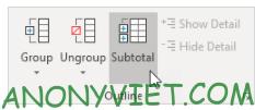 Bài 220: Outline Data trong Excel 34