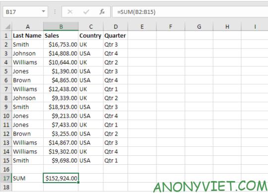Bài 221: Subtotal trong Excel