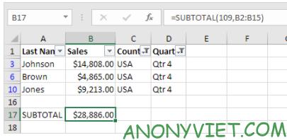Bài 221: Subtotal trong Excel 29
