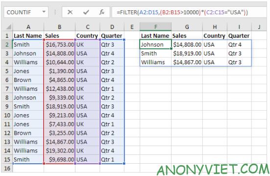 Bài 223: Hàm Filter trong Excel 30