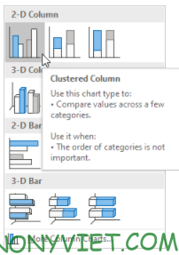 Bài 233: Biểu đồ cột trong Excel 23