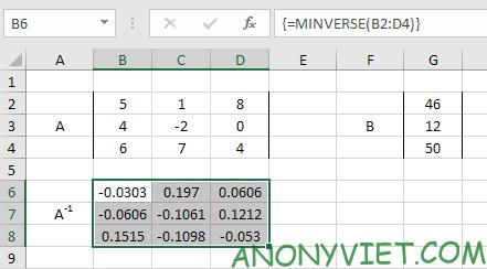 Bài 209: Hệ phương trình tuyến tính trong Excel 26