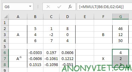Bài 209: Hệ phương trình tuyến tính trong Excel 27