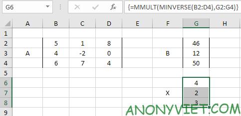 Bài 209: Hệ phương trình tuyến tính trong Excel 28