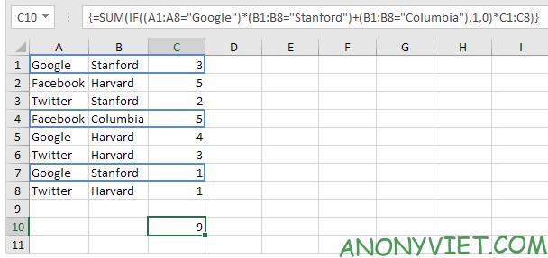 Bài 207: Cách sử dụng hàm SUMIF trong Excel 32