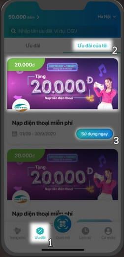 Cách nhận 120k miễn phí từ ViettelPay 61