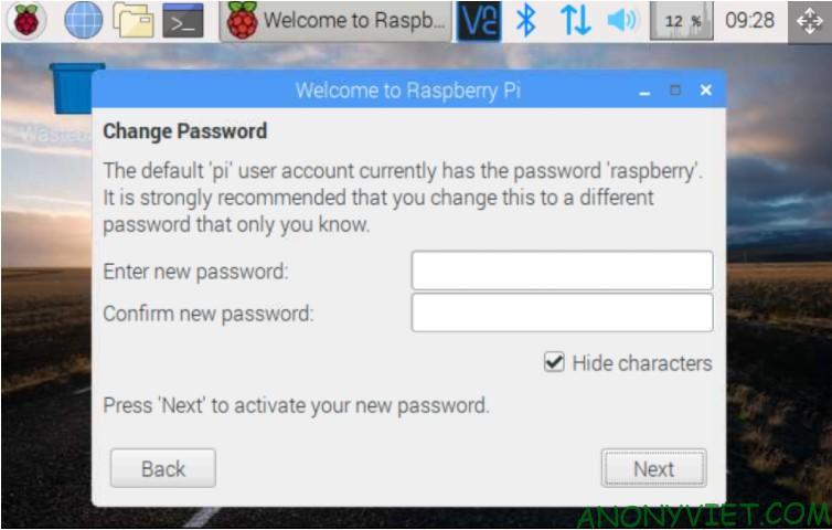 Thay đổi mật khẩu Raspberry Pi
