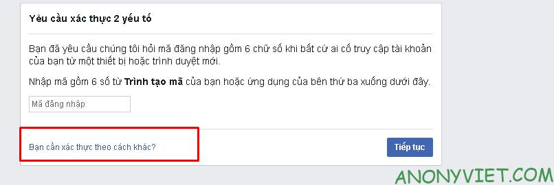 Phá xác thực 2 yếu tố facebook