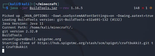 tạo file Minecraft Server Spigot