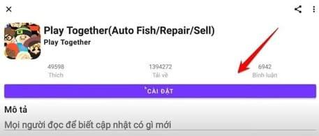 Cài đặt Auto Fish Play Together