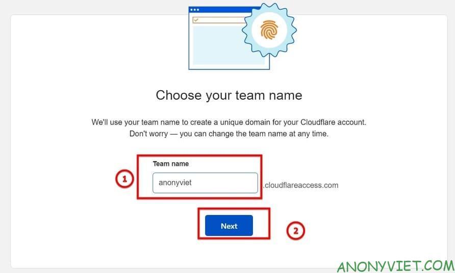 Nhập tên teams muốn tạo