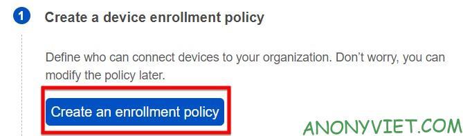 Chọn create Policy