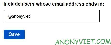Thêm địa chỉ đuôi gmail