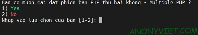 Multiple PHP