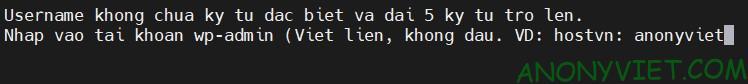 Đặt Username cho wp-admin