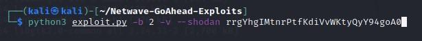 chạy Netwave-GoAhead Exploit