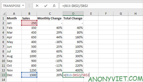 Bài 127: Cách sử dụng phần trăm trong Excel 36