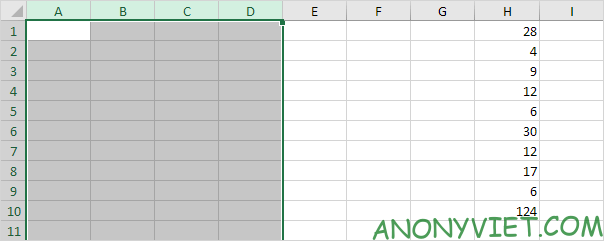 Bài 128: Cách thêm cột trong Excel 58