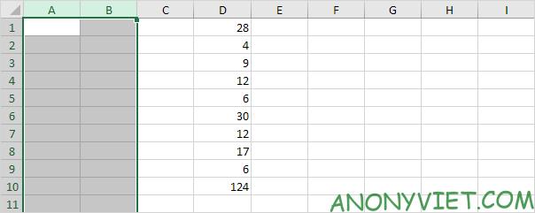 Bài 128: Cách thêm cột trong Excel 54