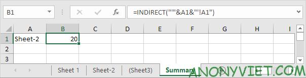 Bài 162: Cách sử dụng hàm INDIRECT trong Excel 52