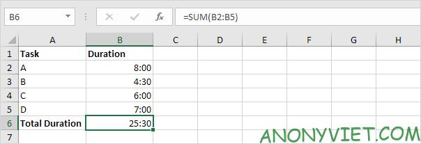 Bài 139: Cộng trừ thời gian trong Excel 67
