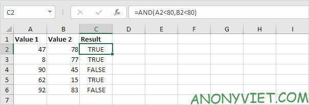 Bà 114: Toán tử so sánh trong Excel 50
