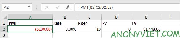 Bài 167: Cách sử dụng hàm PMT trong Excel 39
