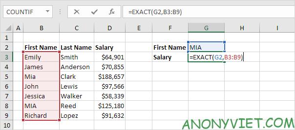 Bài 159: Tra cứu phân biệt chữ hoa chữ thường trong Excel 33