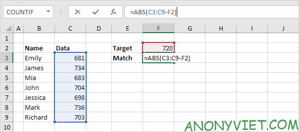 Bài 164: Tìm kết quả khớp nhất trong Excel 28