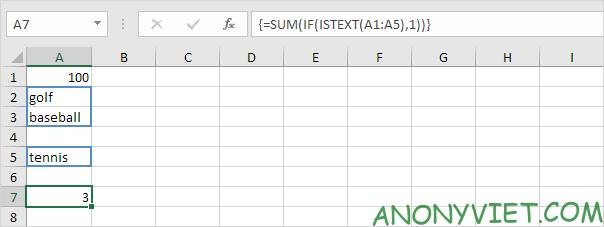 Bài 108: Cách đếm ô có chứa văn bản trong Excel 31