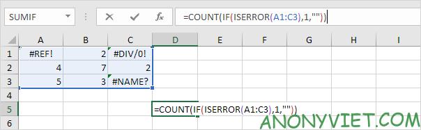 Bài 201: Cách đếm lỗi trong Excel 22